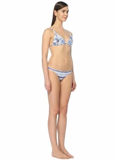 Jets Swimmear Üçgen Bikini Üstü Mavi